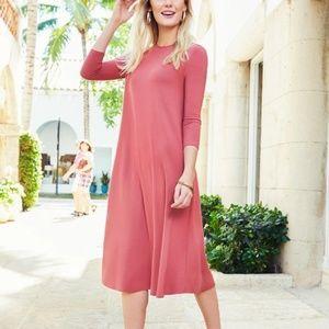 Pashmina Classic Swing Dress in Rose